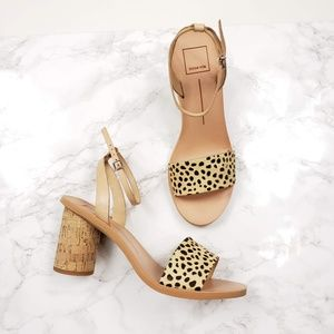 Dolce Vita Jali Leopard Calf Hair Sandals